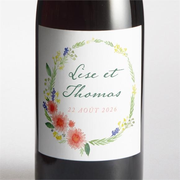 Etiquette de bouteille mariage Bucolique réf.N3001439