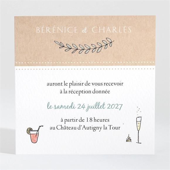 Carton d'invitation mariage Douce mélodie réf.N3001440