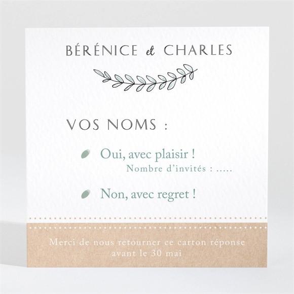 Carton réponse mariage Douce mélodie réf.N3001441