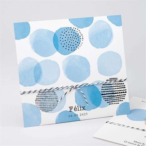 Faire-part naissance Bleu tendance réf.N311220