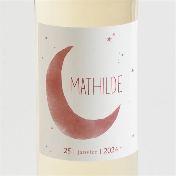 Etiquette de bouteille naissance Astres cuivrés réf.N3001443