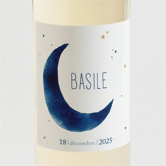 Etiquette de bouteille naissance Nuit étoilée réf.N3001444
