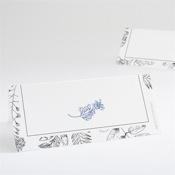 Marque-place mariage Gravure florale réf.N440671