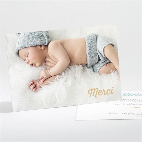 Remerciement naissance Son initiale réf.N111220