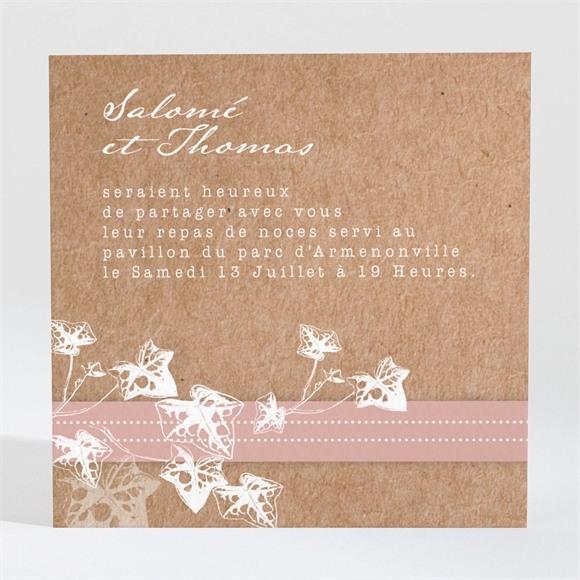 Carton d'invitation mariage Lierre grimpant réf.N3001448