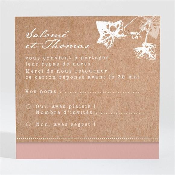 Carton réponse mariage Lierre grimpant réf.N3001449