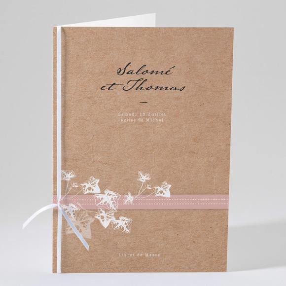 Livret de messe mariage Lierre grimpant réf.N49159