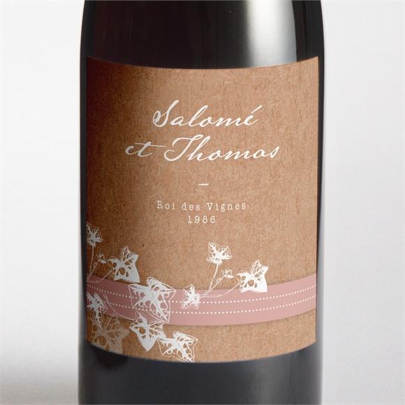 Etiquette de bouteille mariage Lierre grimpant réf.N3001450