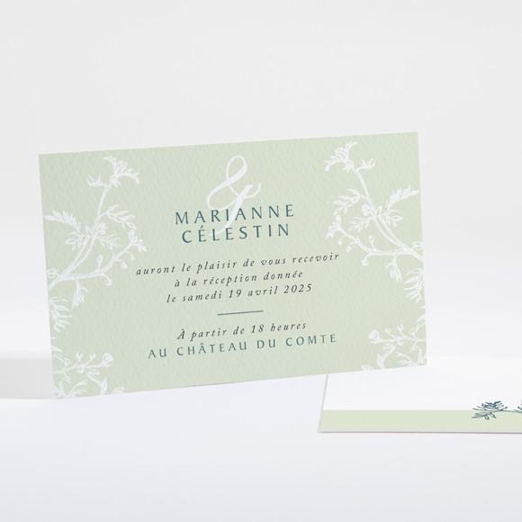 Carton d'invitation mariage Gravure chic réf.N16121