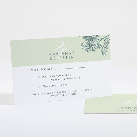 Carton réponse mariage Gravure chic réf.N16122
