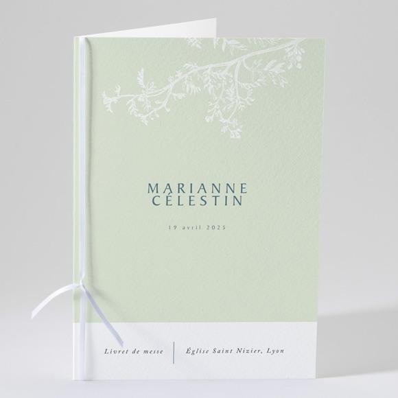 Livret de messe mariage Gravure chic réf.N49160