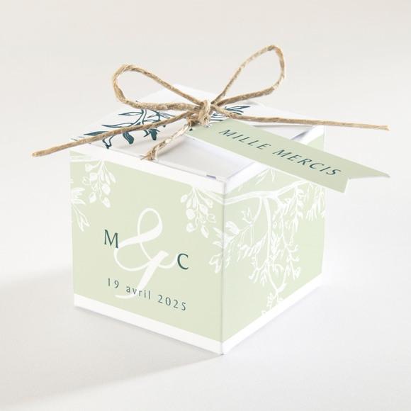 Boîte de dragées mariage Gravure chic réf.N340135