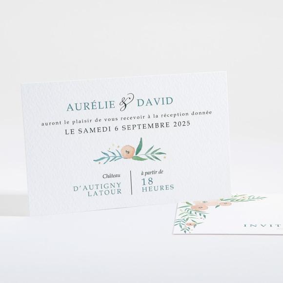 Carton d'invitation mariage Printemps! réf.N16123
