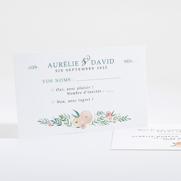 Carton réponse mariage Printemps! réf.N16124