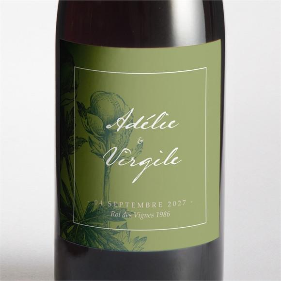 Etiquette de bouteille mariage Intemporel réf.N3001462