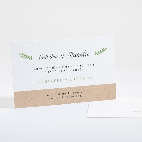 Carton d'invitation mariage Fraicheur d'été réf.N16127