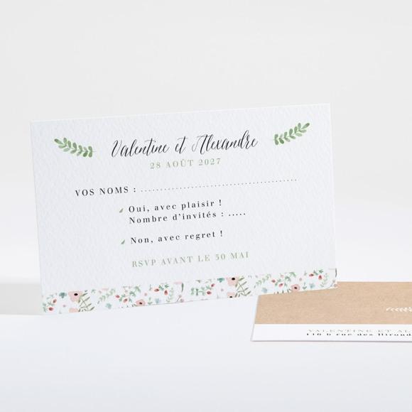 Carton réponse mariage Fraicheur d'été réf.N16128