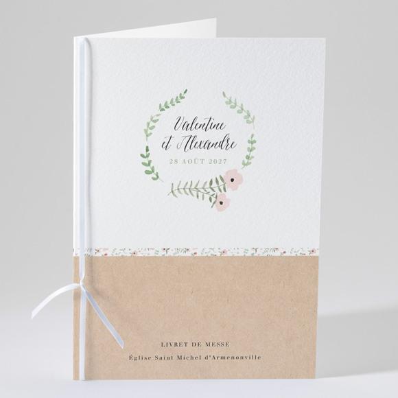 Livret de messe mariage Fraicheur d'été réf.N49164