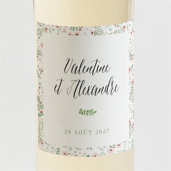 Etiquette de bouteille mariage Fraicheur d'été réf.N3001465