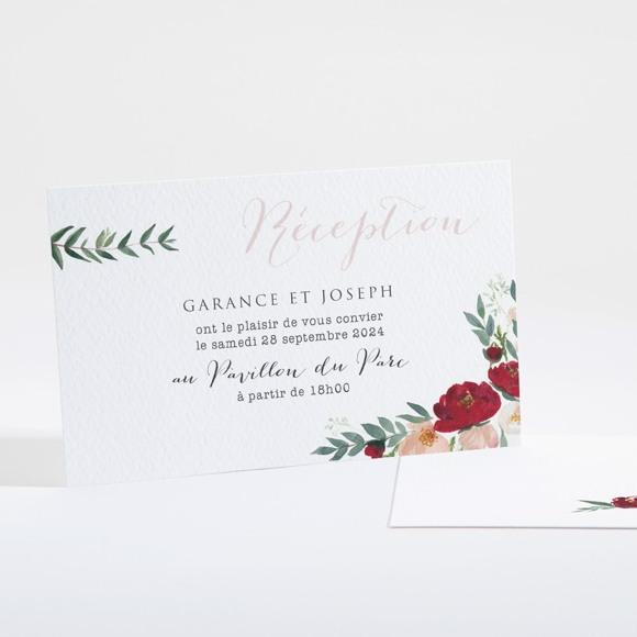 Carton d'invitation mariage Jolis coquelicots réf.N16129