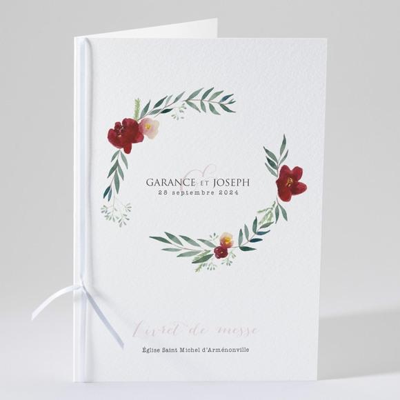 Livret de messe mariage Jolis coquelicots réf.N49167