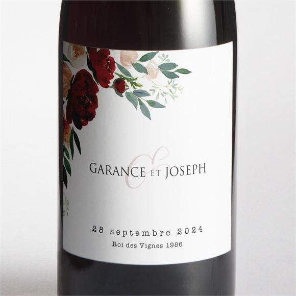 Etiquette de bouteille mariage Jolis coquelicots réf.N3001474