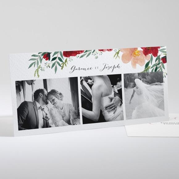 Remerciement mariage Jolis coquelicots réf.N13179