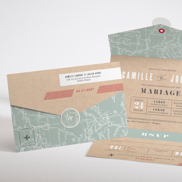 Faire-part mariage Voyage voyage réf.N97101
