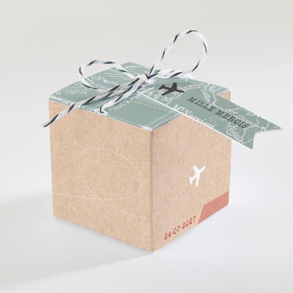 Boîte de dragées mariage Voyage voyage réf.N340144