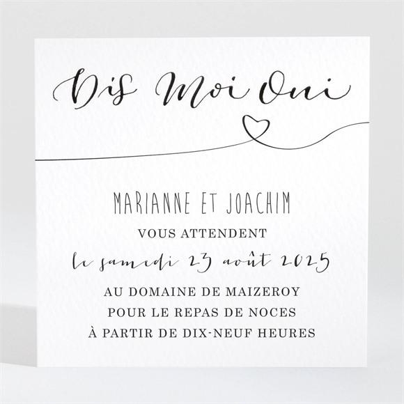 Carton d'invitation mariage Dis moi Oui! réf.N3001481