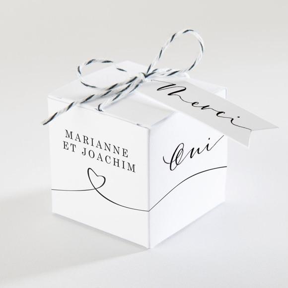 Boîte de dragées mariage Dis moi Oui! réf.N340145