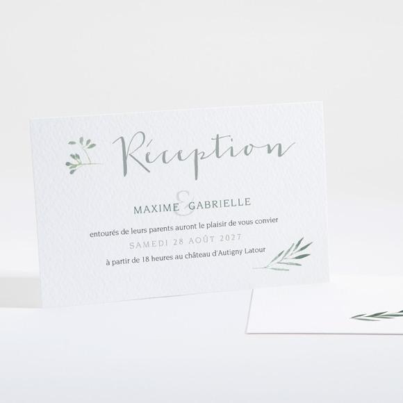 Carton d'invitation mariage Douceur du pinceau réf.N16131