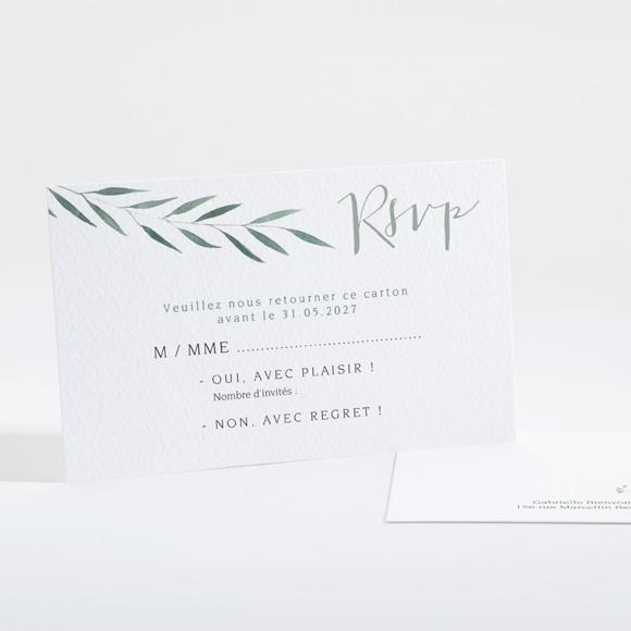 Carton réponse mariage Douceur du pinceau réf.N16132