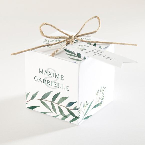 Boîte de dragées mariage Douceur du pinceau réf.N340146