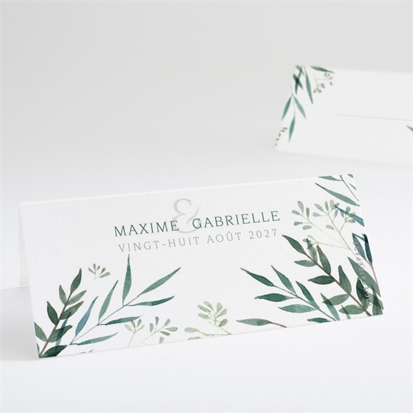 Marque-place mariage Douceur du pinceau réf.N440683