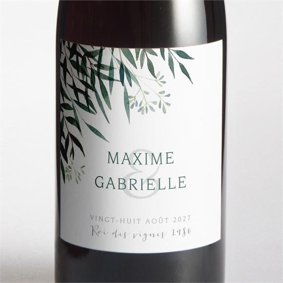Etiquette de bouteille mariage Douceur du pinceau réf.N3001486