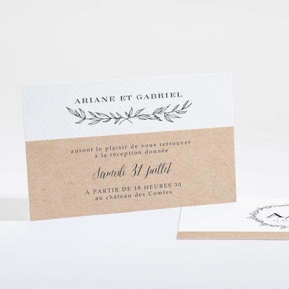 Carton d'invitation mariage Douce harmonie réf.N16109