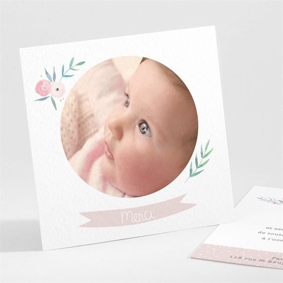 Remerciement naissance Illustration florale réf.N30167