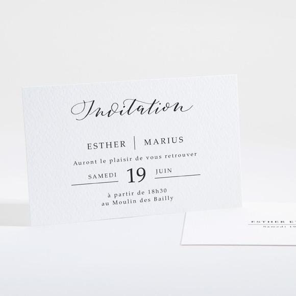 Carton d'invitation mariage Liés pour toujours réf.N16113