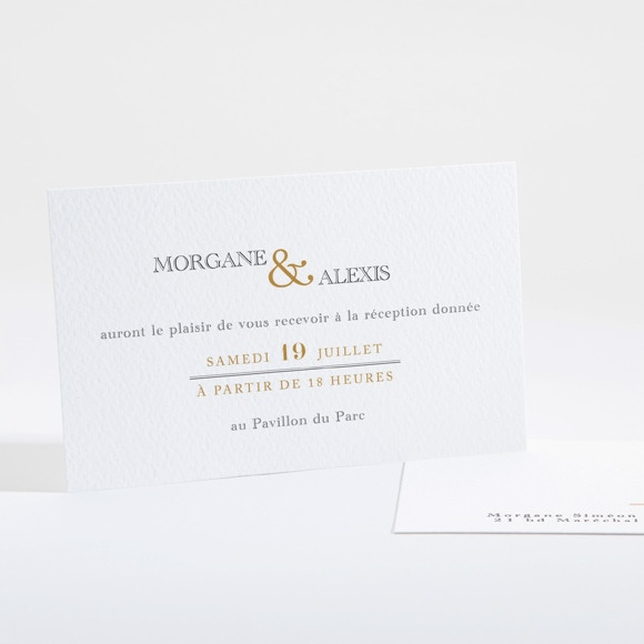 Carton d'invitation mariage Lettre moderne réf.N16107