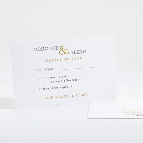 Carton réponse mariage Lettre moderne réf.N16108