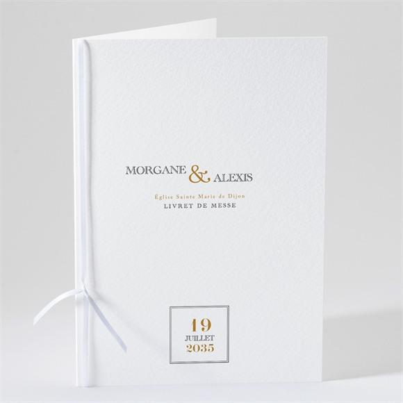 Livret de messe mariage Lettre moderne réf.N49177