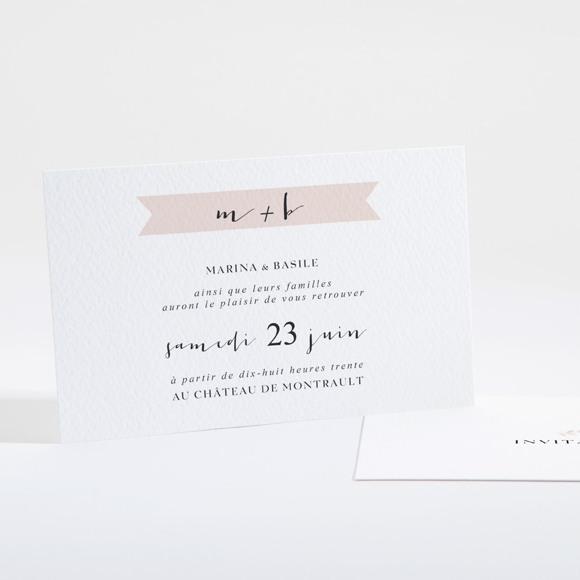 Carton d'invitation mariage Médaillon réf.N16101