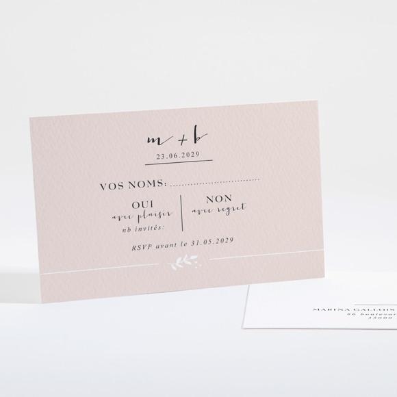 Carton réponse mariage Médaillon réf.N16102