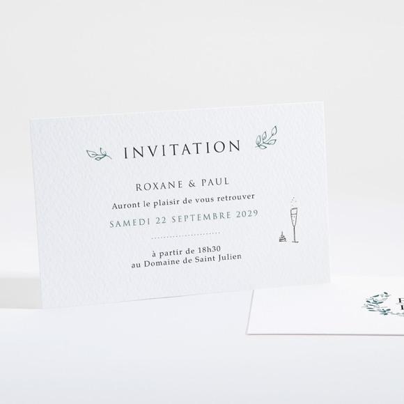 Carton d'invitation mariage Belle couronne réf.N16105