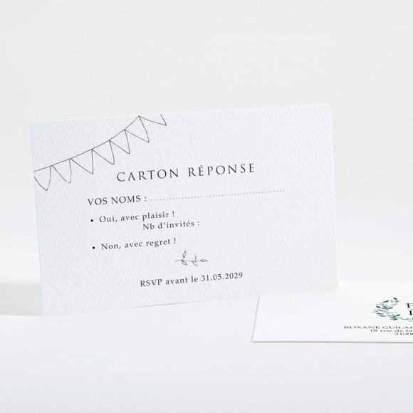 Carton réponse mariage Belle couronne réf.N16106