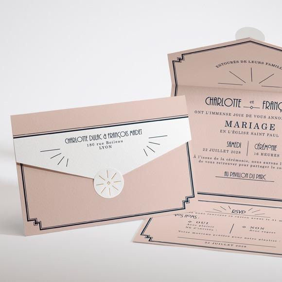 Faire-part mariage Tout en un réf.N97103