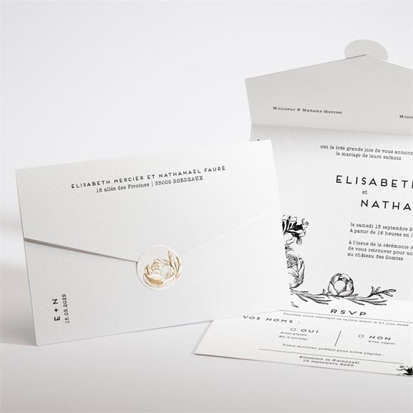 Faire-part mariage Tout en un! réf.N97105