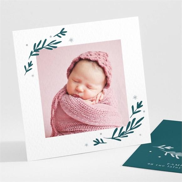 Faire-part naissance Polaroid végétal réf.N30178