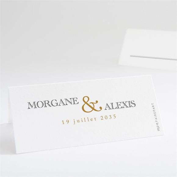Marque-place mariage Lettre moderne réf.N440686